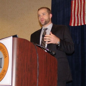 Greg Gorbett speaks at the 2010 International Symposium on Fire Investigation